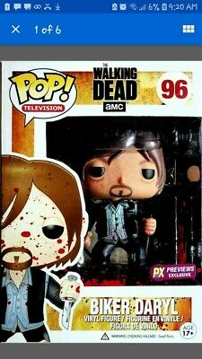 Funko POP TV The Walking Dead Daryl Dixon Biker PX Previews Exclusive #96 BLOODY