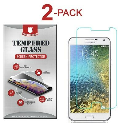 2-Pack Tempered Glass Screen Protector Film for Samsung Galaxy J7 2015