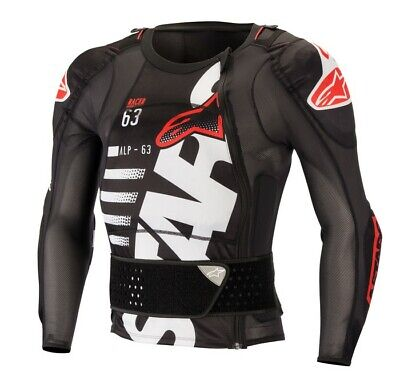 Alpinestars Sequence Off Road Motorcycle MX Protection Jacket  - White/Red