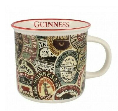 "Guinness Ceramic Mug Archive Label 3.75"" Perfect Choice for Breakfast Beverages"