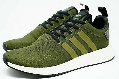 cheaper b3442 0dd00 NEW MENS ADIDAS Nmd Boost R2 Knit Size 11 Cargo Black Olive ...