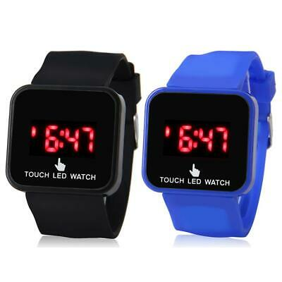 Touch Screen Kid LED Sport Watch Electronic Digital Silicone Wristwatch Gifts