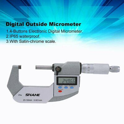 SHAHE IP65 Waterproof 0.001mm Digital Outside Micrometer Electronic Micrometer R