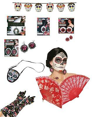 Day of the Dead Fancy Dress Mexican Costume Accessories Halloween