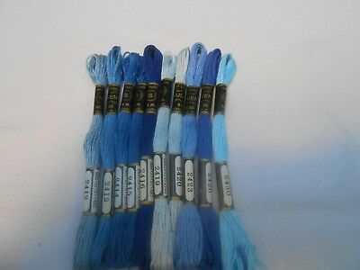Venus threads colours Blues Pack of 10