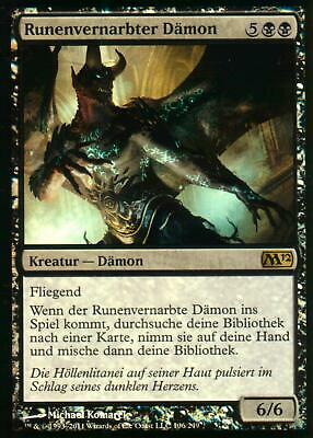 Runenvernarbter Dämon FOIL / Rune-Scarred Demon | NM | M12 | GER | Magic MTG