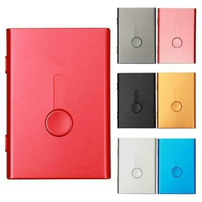 Pocket Stainless Steel Metal Business ID Credit Card Holder Case Wallet Box