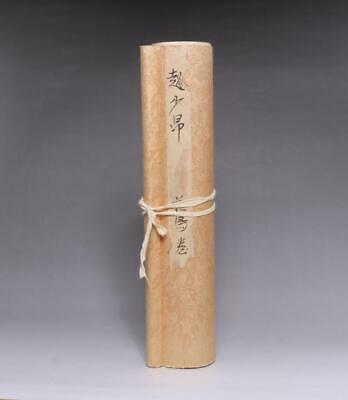 Very Rare Old Chinese Hand Painting Scroll Zhao Shaoang 435Cm (E238)