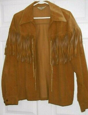Vintage,Fringe Jacket,Color-Tanish Suede,6 String Frt.Tying,L/S, Holland Suede