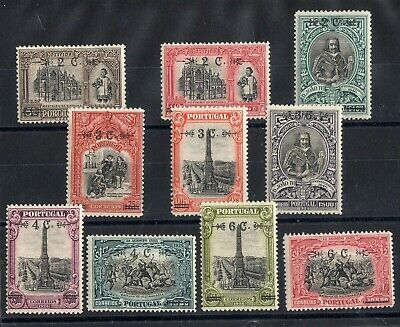 PORTUGAL: SERIE COMPLETE DE 10 TIMBRES NEUF* N°404/413 Cote: 40,00 €
