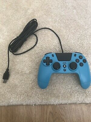 Gioteck VX4 Wired Blue PS4 Controller In Brand New Untouched Condition
