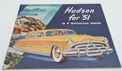 Vintage Hudson, 1951 Hudson, Full Line, 32 Page Colored Brochure or Pamphlet