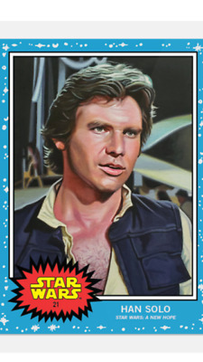Topps Star Wars Living Set Card Han Solo #21 Star Wars : A New Hope