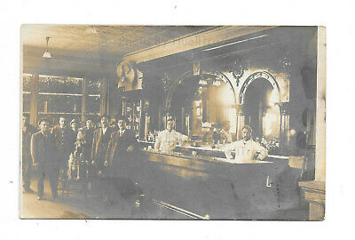 Antique RPPC Olde Time Saloon w/2 Dogs/Doggos, Posted 1912 w/1c Stamp