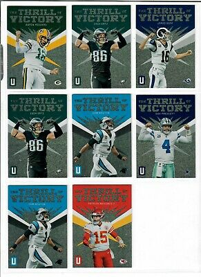2019 Panini Unparalleled Football You Pick THE THRILL OF VICTORY MAHOMES DAK +++
