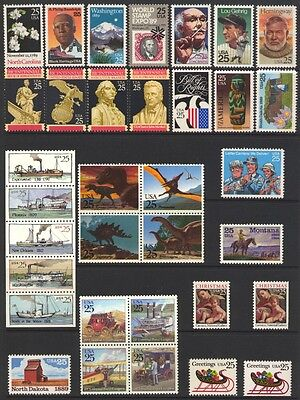 1989 U.s. Commemorative Year Set *34 Stamps* Mint-Nh
