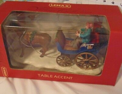 Lemax Collection Horse drawn Carriage Addition Vintage & NEW Old Stock IOP