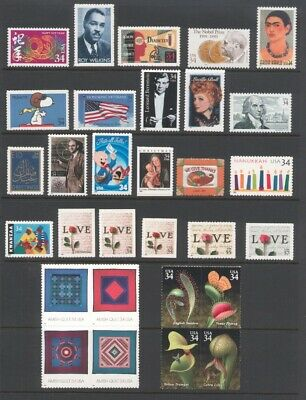 2001 U.s. Commemorative Year Set *48 Stamps* Mint-Nh