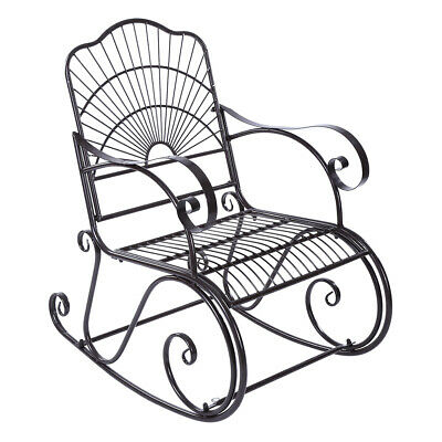 Fine Wide Rocking Chair Wrought Iron Porch Patio Deck Seat Gamerscity Chair Design For Home Gamerscityorg