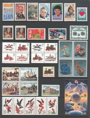 1992 U.s. Commemorative Year Set *64 Stamps* Mint-Nh