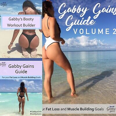 Gabby Gains Guide Trio 🍑 💪| Volume 1,2 and Booty Builder Fitness Plan