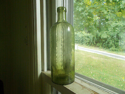 FRANZ JOSEF BITTERQUELLE CRUDE WHITTLED 1880s DUG MINERAL WATER BOTTLE PRETTY