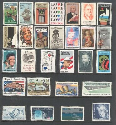 1984 U.s. Commemorative Year Set *44 Stamps* Mint-Nh