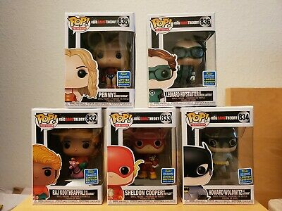 BRAND NEW Funko Pop! Big Bang Theory SDCC Shared Exclusive MINT Free Shiiping!!!
