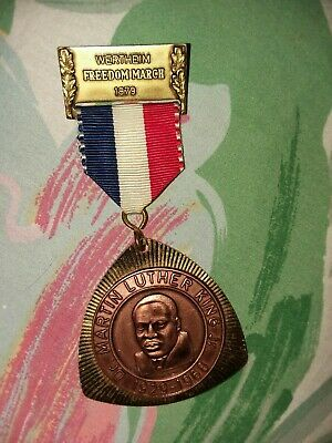 dr. martin luther king jr freedom march medal wertheim 1979