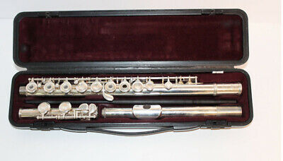 Yamaha YFL-281 Silver-Plated Open-Hole Flute with Hard Case