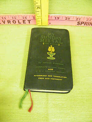 Vintage 1950's Sunday Missal and Manual With Built in Ribbon Book Marks