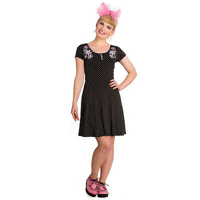 Hell Bunny Blossom Dress Black - Dress in 50er Years Style Pin up New