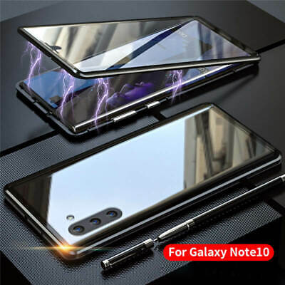 For Samsung Note 10 + Plus Magnetic Adsorption Double Sided Tempered Glass Case
