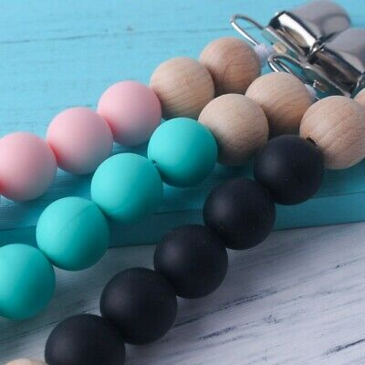 Pacifier Clips Teething Baby Teether Chain Clip Bead Dummy Holders High Quality