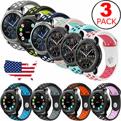 3-Pack Replacement Band Strap Sport For Samsung Gear S3 Frontier Classic Watch