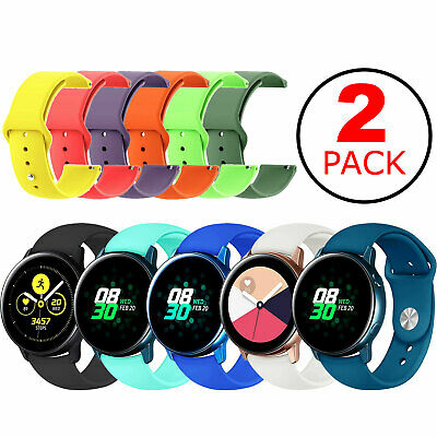 2-Pack Replacement Band Strap Small/Large For Samsung Galaxy Watch Active