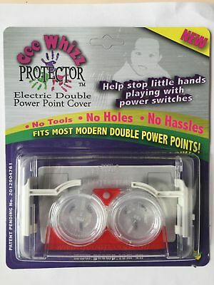 """Gee Whizz Protector"" SIX ( Safety double power point cover)"