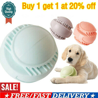 Pet Dog Chew Teeth Clean TPR Toys Rubber Ball Puppy Molar Chewing Treat Training