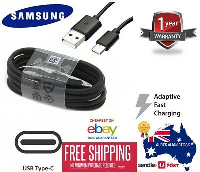 5 X Genuine SAMSUNG Adaptive FAST Charger Type C Cable Galaxy S10 5G S9 8 Plus