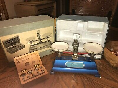 Vintage Compass Beam Weight Scale # 446 Complete Original Box Made In Ny Usa