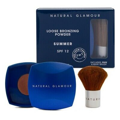 Natural Glamour Loose Bronzing Powder SUMMER SPF12+ 10gm (Includes Kabuki Brush)