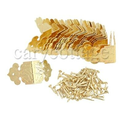 20pcs Edge Protectors Vintage Style Golden Iron for Corner Protection