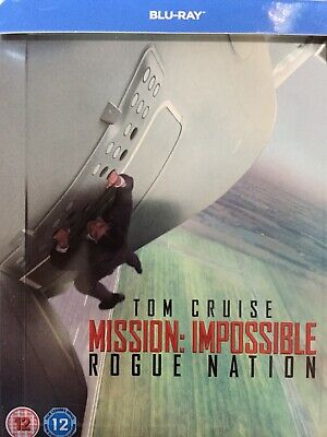 MISSION IMPOSSIBLE Rogue Nation - BLURAY Steelbook 2012 Exc Cond! UK Import