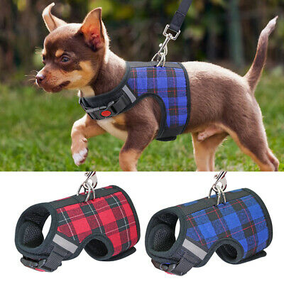 Soft Mesh Padded Small Dog Harness and Leads Pet Puppy Cat Rabbit Vest Chihuahua