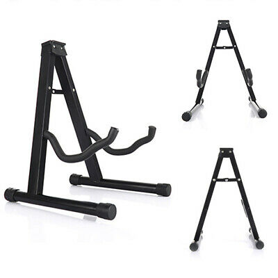 Foldable A-Frame Guitar Stand Electric Acoustic Music Bass Floor Holder UK