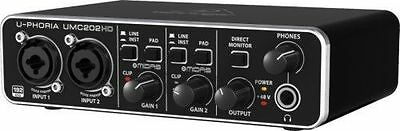 Behringer U-PHORIA UMC202HD 2x2, 24-Bit/192 kHz USB Audio Interface with Midas