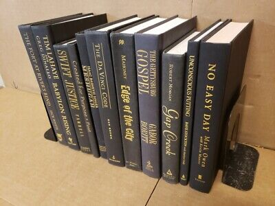 Lot of 10 Hardcover BLACK Book for Decorating Design Staging GOLD/COPPER Letters