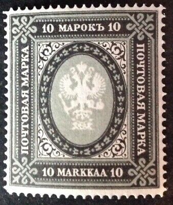 Finland 1901 10m Grey & Black Stamp Mint Hinged
