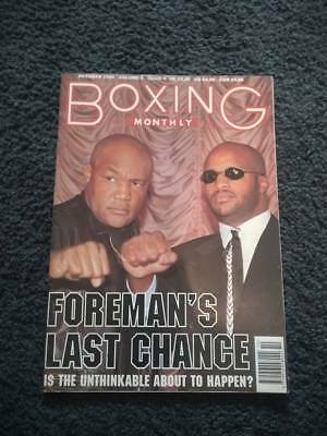 BOXING MONTHLY MAGAZINE OCTOBER 1994 GEORGE FOREMAN WAYNE McCULLOUGH