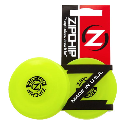 ZipChip Mini Frisbee Disc Pocket Spinner Outside Activity Game Flying Zip Chip